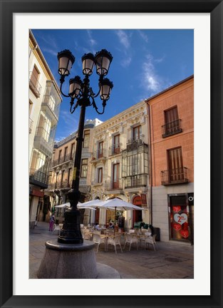 Framed Outdoor Cafe,  Avila, Spain Print