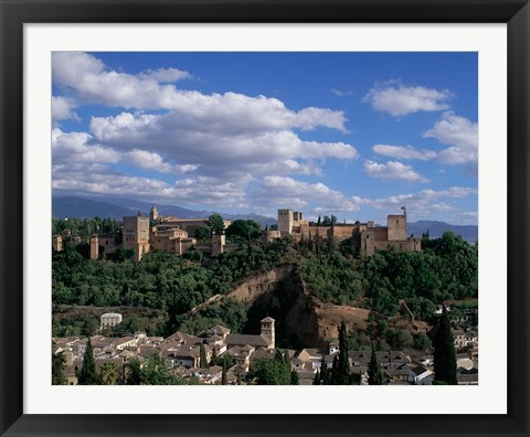 Framed Alhambra, Granada, Andalusia, Spain Print