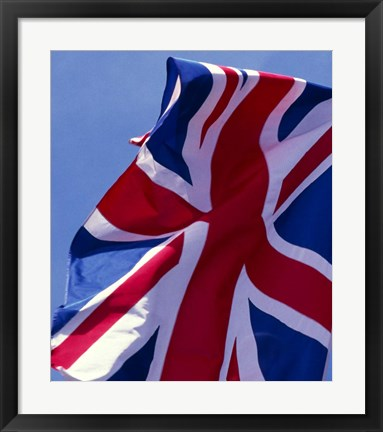 Framed British Flag, England Print