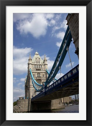 Framed Tower Bridge over the Thames River in London, England Print