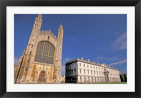 Framed Cambridge Kings College, Cambridgeshire, England Print