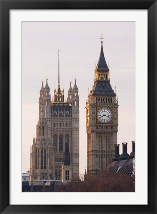 Framed Big Ben Morning, London, England Print