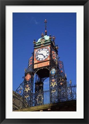 Framed Eastgate Clock, Chester, Cheshire, England Print