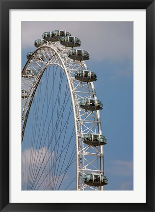 Framed England, London, London Eye, Amuseument Park Print