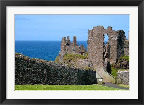 Framed Ireland, Dunluce Castle Ancient Architecture Print