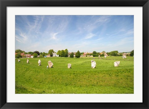 Framed Stone Display, Avebury, England Print