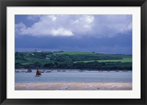 Framed View of Camel River from Padstow, Cornwall, England Print