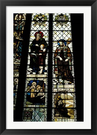 Framed Cathedral, Anglers Window, Winchester, England Print