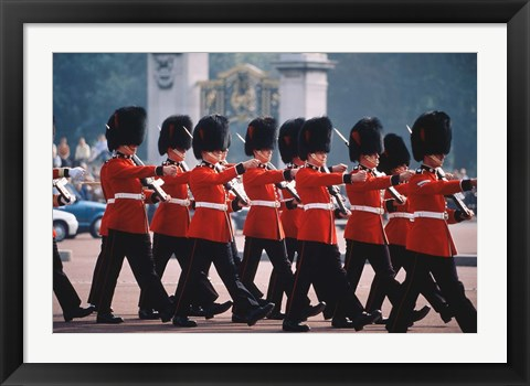 Framed Changing of the guards, London, England Print