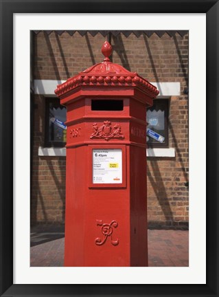 Framed GR Post Box, Gloucester, Gloucestershire, England Print