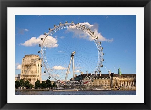 Framed London Eye, Amusement Park, London, England Print