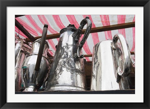 Framed Pots and Pans, Portobello Road Market, Notting Hill, London, England Print
