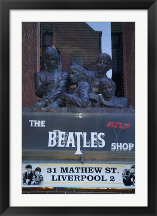 Framed Beatles Shop, Mathew Street, Liverpool, England Print