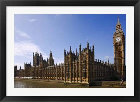 Framed UK, London, Big Ben and Houses of Parliament Print