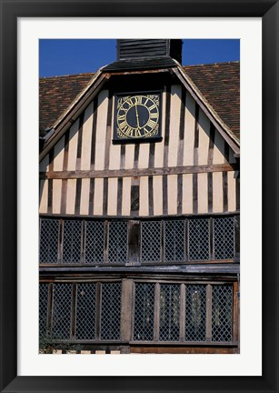 Framed Medieval Moated Manor House, Ightham Mote, Kent, England Print