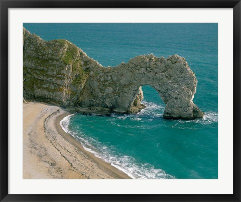 Framed Durdle Door in Lulworth Cove, Dorset, England Print