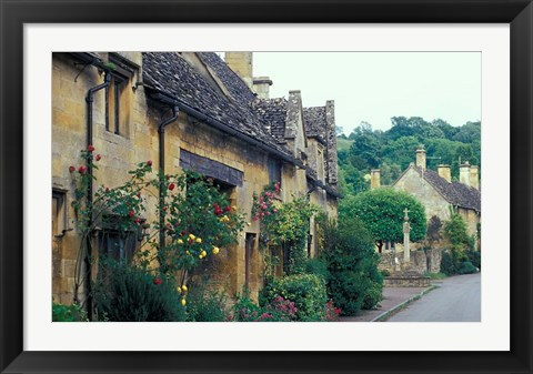 Framed Village of Snowshill, Cotswolds, Gloucestershire, England Print