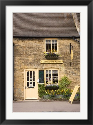 Framed Cottage Tea Rooms, Stow on the Wold, Cotswolds, Gloucestershire, England Print