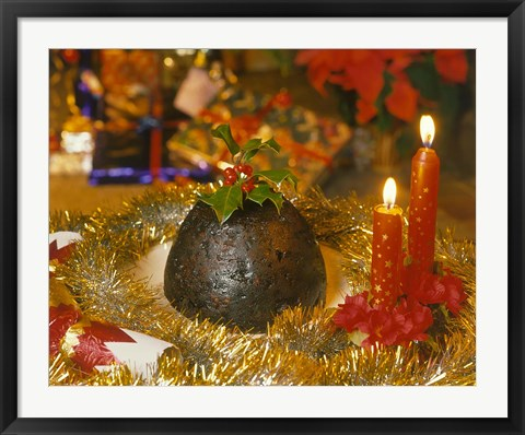 Framed Christmas Pudding, England Print