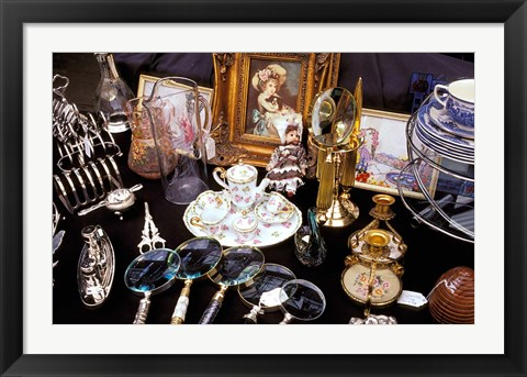 Framed Antiques For Sale, Apple Market, Covent Garden, London, England Print