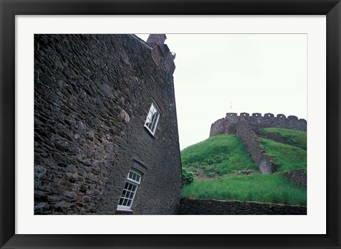 Framed Ruins of Norman Castle, Totnes, Devon, England Print
