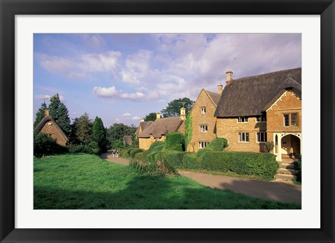 Framed Village of Great Tew, Oxfordshire, England Print