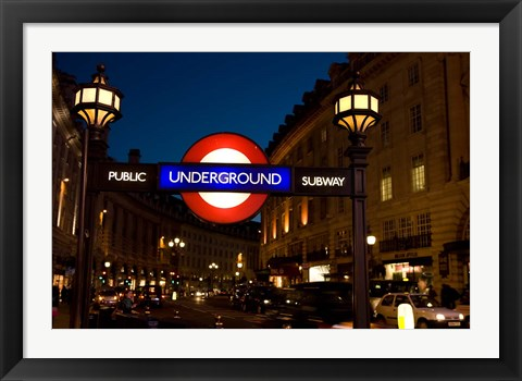 Framed England, London Subway, Tube Entrance Print