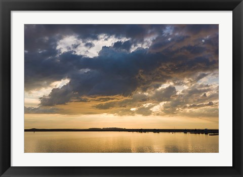 Framed Evening light at West Kirby, Wirral, England Print