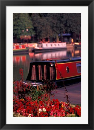 Framed Basin Linking Canal to River Avon, Stratford-on-Avon, England Print