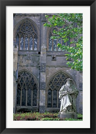 Framed Statue of Richard Hooker, Exeter, Devon, England Print