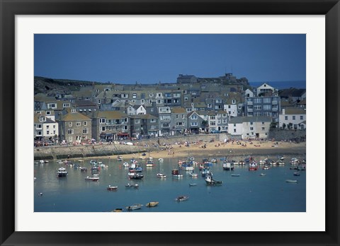 Framed St Ives, Cornwall, England Print