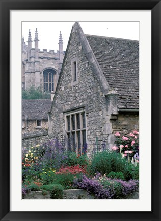 Framed Christchurch College, Oxford, River Thames, England Print