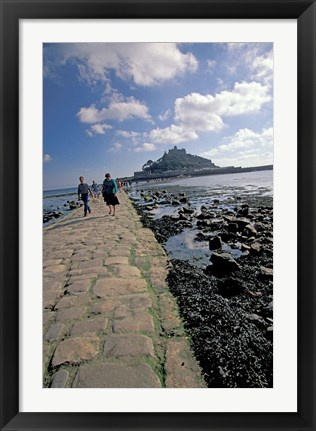 Framed St Michael's Mount, Cornwall, England Print