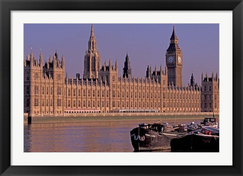 Framed Parliament and Big Ben, London, England Print