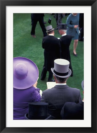 Framed Formally dressed race patrons, Royal Ascot, England Print