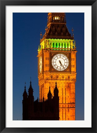 Framed Big Ben Tower, House of Parliament, London, England Print