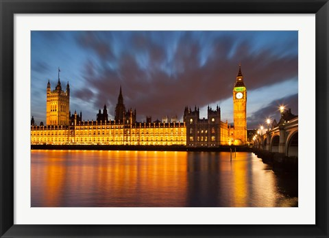 Framed Houses of Parliament, Big Ben, London, England Print