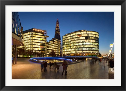 Framed Shard, City Hall, London, England Print