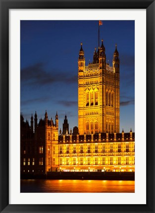 Framed Victoria Tower, House of Parliament, London England Print