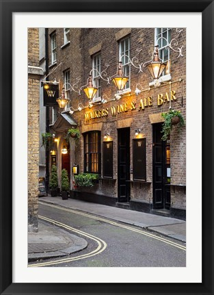 Framed Bar near Trafalgar Square, London, England Print