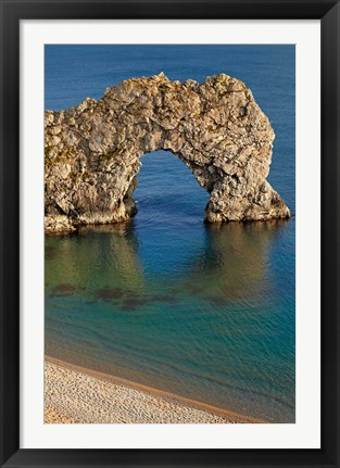 Framed Durdle Door Arch, Jurassic Coast World Heritage Site, Dorset, England Print