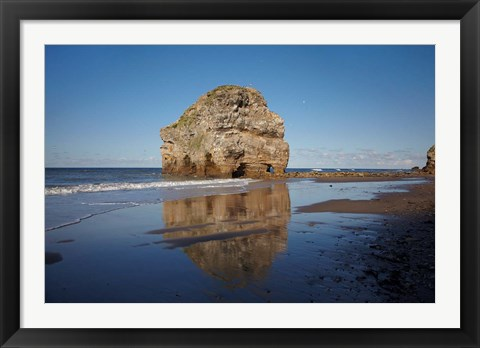 Framed Marsden Rock, South Shields, South Tyneside, England Print