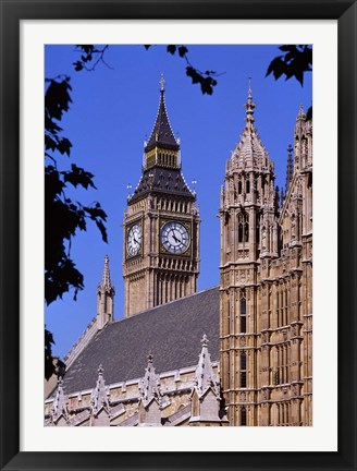 Framed Big Ben and Houses of Parliament, London, England Print