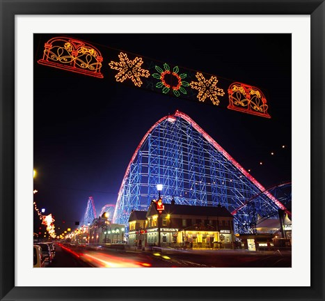 Framed Big One Roller Coaster, Blackpool, Lancashire, England Print