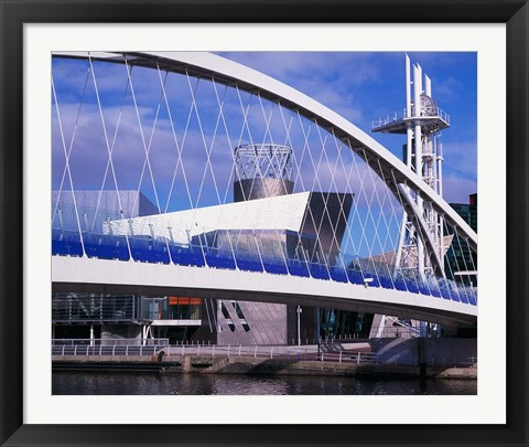 Framed Lowry Centre, Art Gallery, Salford Quays, Manchester, England Print