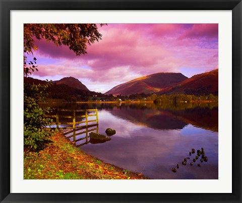 Framed Grasmere in The Lake District, Cumbria, England Print