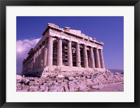 Framed Parthenon on the Acropolis, Ancient Greek Architecture, Athens, Greece Print