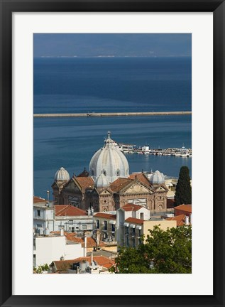 Framed Church of Agios Therapon, Lesvos, Mithymna, Northeastern Aegean Islands, Greece Print