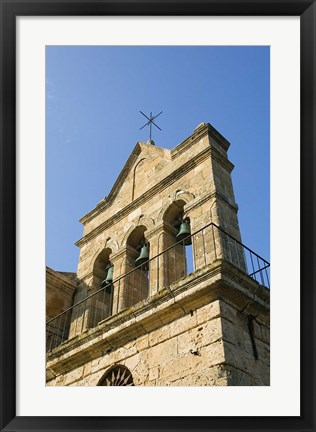 Framed Agios Nikolaos Church Bell Tower, Zakynthos, Ionian Islands, Greece Print