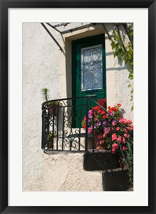 Framed Doorway, Skala Sykaminia, Lesvos, Mithymna, Northeastern Aegean Islands, Greece Print